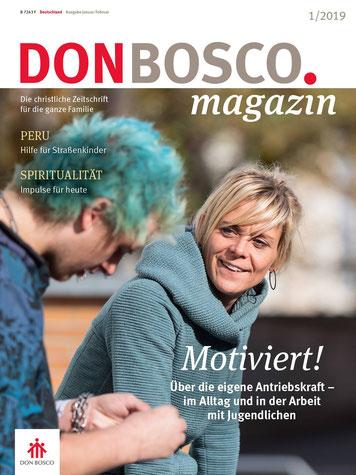 Don Bosco Magazin 1 2019.  Titelfoto: Klaus D. Wolf, Fotojournalist München