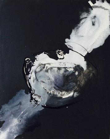 Bild: Mystique: 80 x 100 cm, auf Leinwand, Acryl, Bitumen