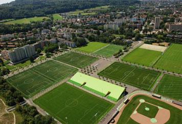 Luftaufnahme der Sportanlage Herrenschürli (Bildquelle: Kanton Zürich)