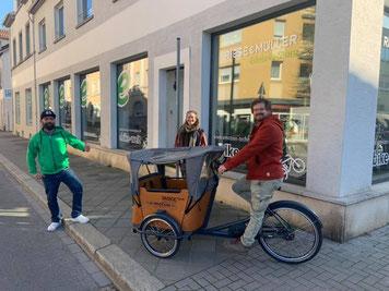 Lastenrad für Lebensmittel Transport in Worms