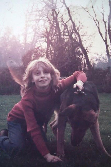 Liza Tavy-Bielan mit ihrem ersten Hund