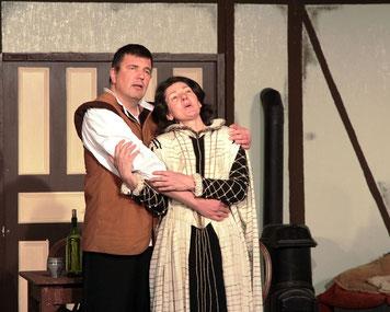 Andreas Fuchs (Romeo) und Silke Kuchenbecker (Julia)