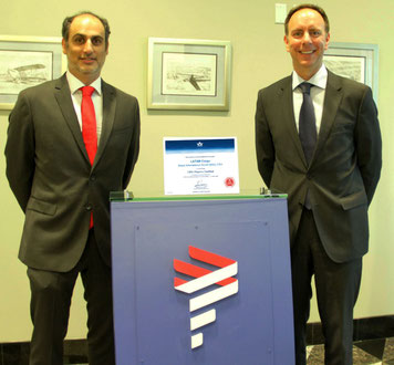 LATAM Cargo Chief Andres Bianchi (left) with IATA's Peter Cerda