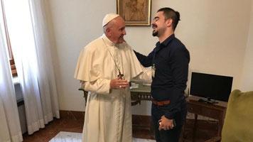 Sala Al-Abbia con Papa Francesco