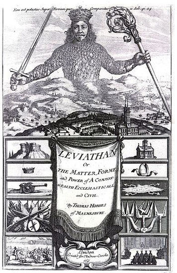 """""""Leviathan by Thomas Hobbes"""" von Unbekannt - Lizenziert unter Public domain über Wikimedia Commons"""