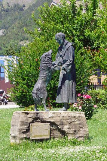 Denkmal Franz von Assisi und der Wolf in Gubbio