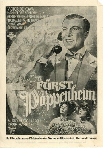 Werbung für Spielfim 1952