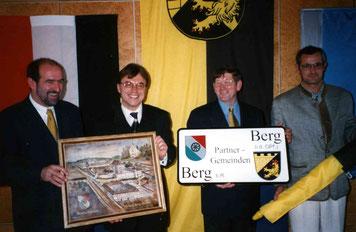 Partnerschaftsbesiegelung  Berg b. R./Berg i.d.OPf. am 17.10.1998