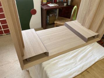 抽斗BOXの底にダストボードを固定。家具工房ZEROSSOのオーダーメイド家具。