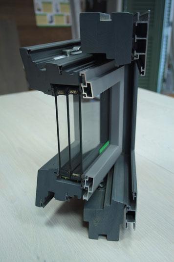 serramento in legno alluminio como