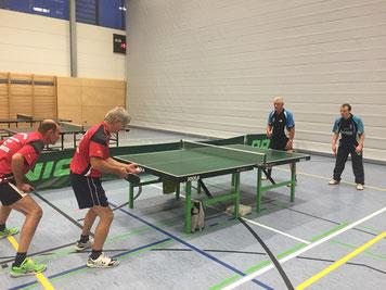 SSV Bad Brambach vs MSV 1  -  v.r.: Norman Schusser und Peter Schliwa im Doppel