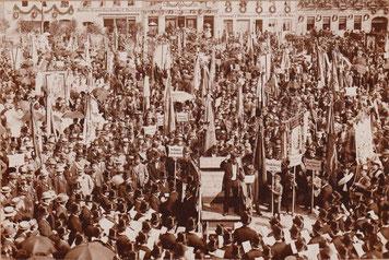 18. Sächsische Elbgau-Sängerbundfest 16.-18. Juli 1927 in Radeberg, Konzert auf dem Marktplatz