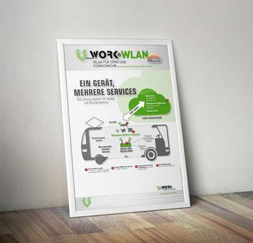 Plakat Stahl Computertechnik / vWORK