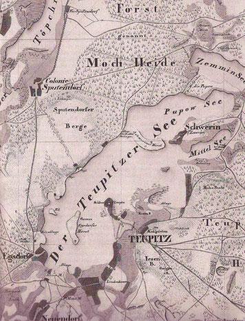 Messtischblatt 2112/3847 von 1841 (Ausschnitt)