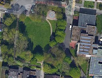 Grünanlage Wecholder Straße in 28277 Bremen-Kattenesch von oben (Foto: Google Maps)