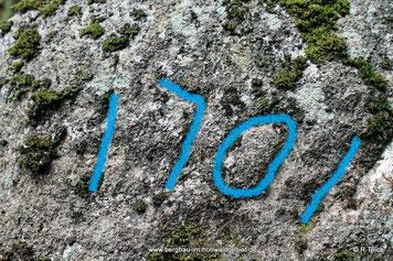 Inschrift auf dem Grenzstein