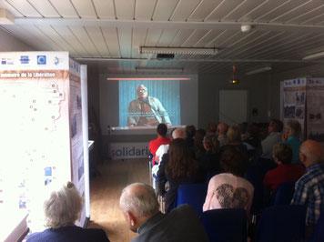 Projection vidéo de témoignages de Déportés au Mémorial