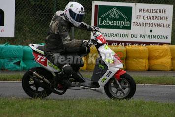 Julien du team KRH2 lors du roulage du 20 Juin
