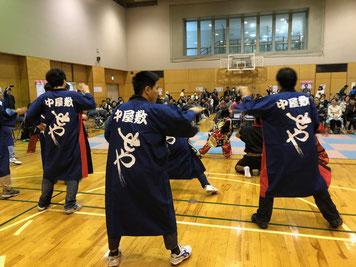 長いはっぴをお借りしてTAKIOのソーラン節を踊りました。