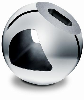 Bei Armaturen-Bestandteilen wie Ventilkugeln besteht ein besonderer Anspruch an die Stabilität der Oberflächen, um die Dichtheit sicherzustellen.