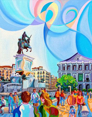 FELIPE IV (MADRID). Huile sur toile. 92 x 73 x 3,5 cm.