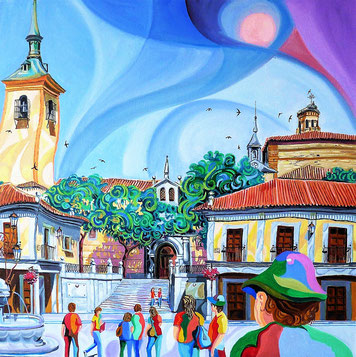 BRUNETE (BRUNETE). Oil on canvas. 60 x 60 x 3,5 cm.