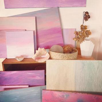 paintings of ocean and sky