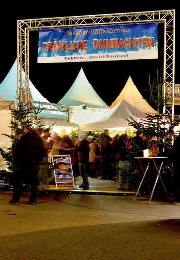 Der Eingang zum Festtagsmarkt Duhnen