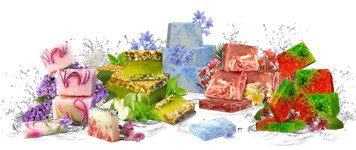 Refan Handgemaschte Seife; Rosengarten,Apfel& Minze,Lilie & Nelke,Mich & Hafer