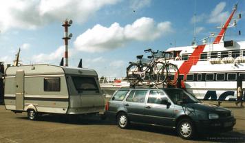 Am Fähranleger in Eemshaven/Holland 1998