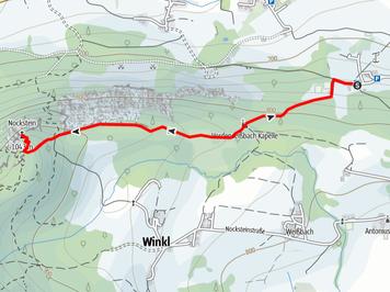 Route auf den Nockstein bei Salzburg