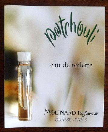 MOLINARD - PATCHOULI : EAU DE TOILETTE, ECHANTILLON-TUBE