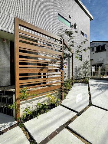 【守山区 タマホーム 外構】シンボルツリーが美しいシンプルモダンエクステリア