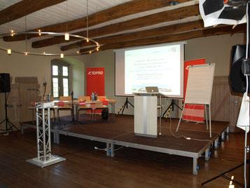 Konferenztechnik / Leinwand, Beamer & Sprachübertragung