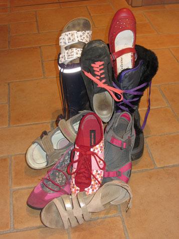 Schuhakrobatik von Melissa
