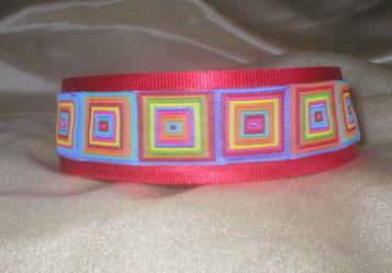 Zugstopp, Halsband, Hund, 4 cm breit, Borte in sttrahlenden Sommerfarben