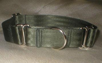 Martingale, Halsband, 2,5cm, Gurtband olivgrün