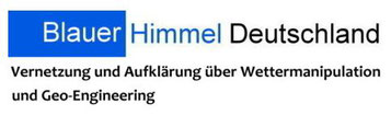 Blauer Himmel Deutschland Aufklärung Wettermanipulation Geo-Engineering Logo