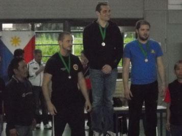 Marcello Varenna al momento della premiazione del 3°posto nella categoria sopra 80 kg