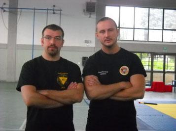 Marco Casalegno e Marcello Varenna i due rappresentanti della Real Kombat System che hanno preso parte alla gara