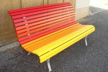 gartenbank farbig