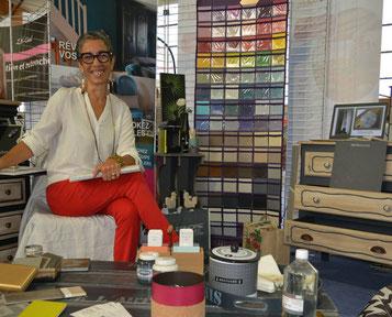 Corinne Le Pavec exposait ses réalisations lors du salon de la rénovation de l'habitat - Les Ecolabs', organisé par la Communauté de Commune  Erdre et Gesvres. I Ouest France