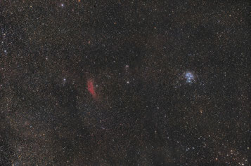 Pleiades and California Nebula