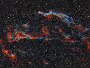 NGC6960 - Part of the Veil Nebula Complex (bicolor)