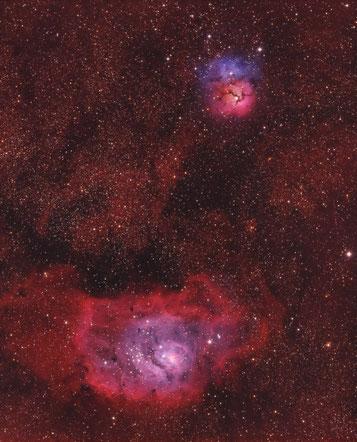 M20 and M8 - Trifid and Lagoon Nebula