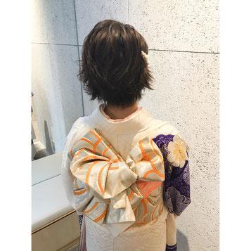横浜・石川町、美容室Grantus、元町、 着付け 美容院 卒業式 着物 ヘアアレンジ ヘアセット 卒業式 成人式