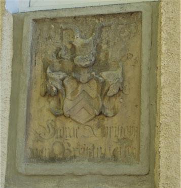 Wappen der Familie von Breitenbuch an der Kirchmühle in St. Ulrich