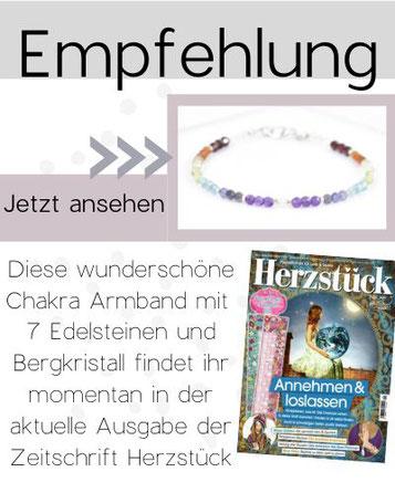 Link zum Artikel Chakra Armband aus Zeitschrift Herzstück