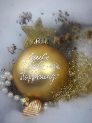 Glaube, Liebe, Hoffnung - an Weihnachten ein wichtiges Thema