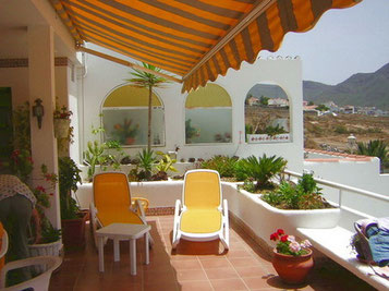 Ansicht der Terrasse am Haus